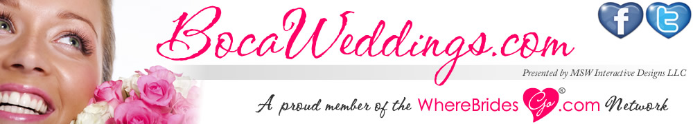 Plan your Boca Raton wedding with BocaWeddings.com!